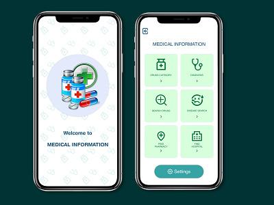 Medical Information App app design appdesign app design figmadesign figma uidesign uidesigner webdesign ux ui