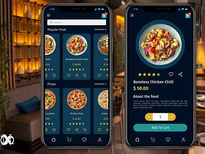 Order Food App uxdesign orderfoodapp orderfood appdesign app figma figmadesign uidesign uidesigner webdesign ux ui