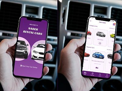 Rent Cars App rent car rental app webdesign uidesigner figma figmadesign uiuxdesign uxdesign uidesign ux ui