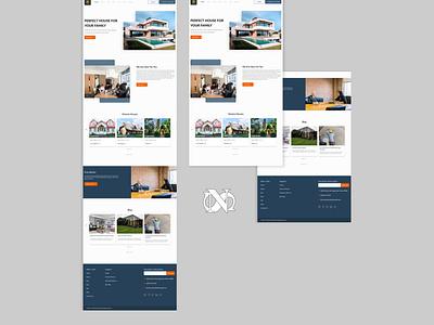 Real Estate Company Web Design ux ui uidesign figmadesign figma webdesign
