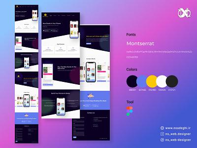 Showcase app Landing page design webdesign branding figmadesign figma showcase-app landingpage uidesign ux ui