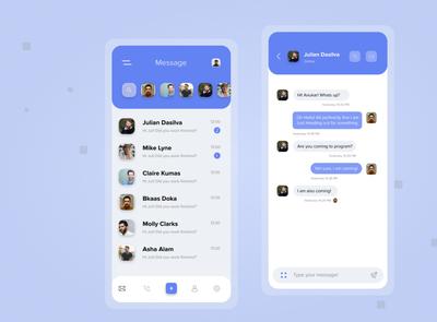 Social media Message Page UI Design app designer application social uiux message design social media design ui mobile ui app design ui design android app wonderful ui ui designer app design app