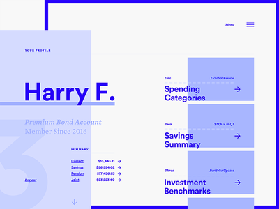 Daily UI #6 user profile dashboard layout type interface ui