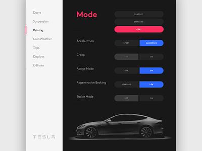 Daily UI #7 car automotive tesla dashboard digital product interface ux ui dailyui