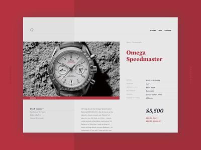 Product Page shop omega ecomm digital product interface ui dailyui