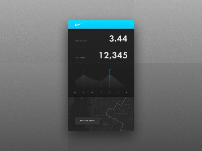 Step & Location Tracker map tracker fitness digital product interface ui dailyui