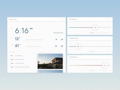Home Monitoring Dashboard it calendar slider monitor home product interface ui dailyui