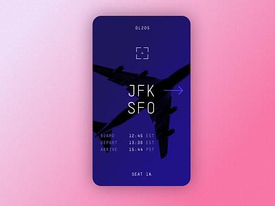 Boarding Pass delta pass boarding flight digital product interface ui dailyui