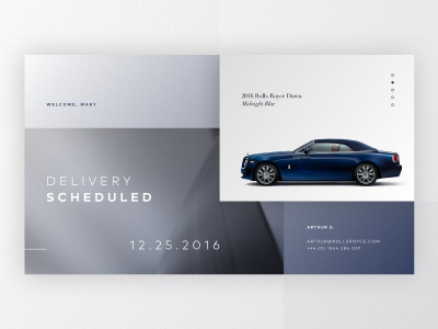 Receipt & Contact automotive contact receipt digital product interface ui dailyui