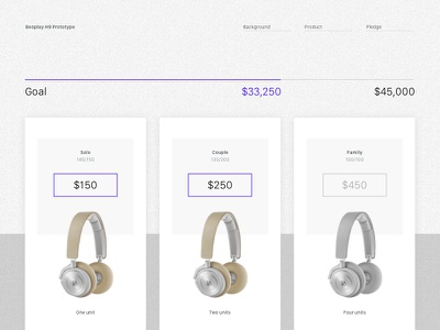 Crowdfunding tracker payment crowdfunding headphones digital product interface ui dailyui