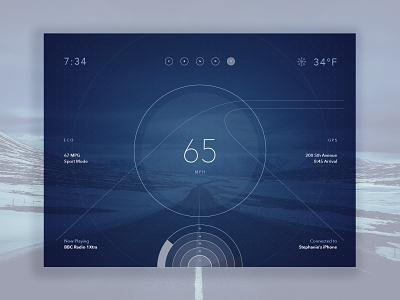 Dashboard Concept dashboard car speedo auto interface ui dailyui