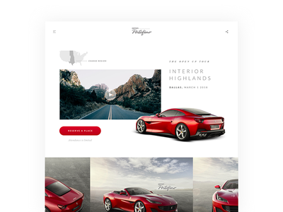 Ferrari Portofino design layout typography digital product interface ui