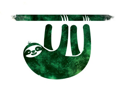 Slowetry sloth illustration vector texture