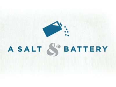 A Salt & Battery Logo logo battery salt