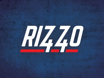 Go Cubs! logo wordmark 44 rizzo baseball cubs