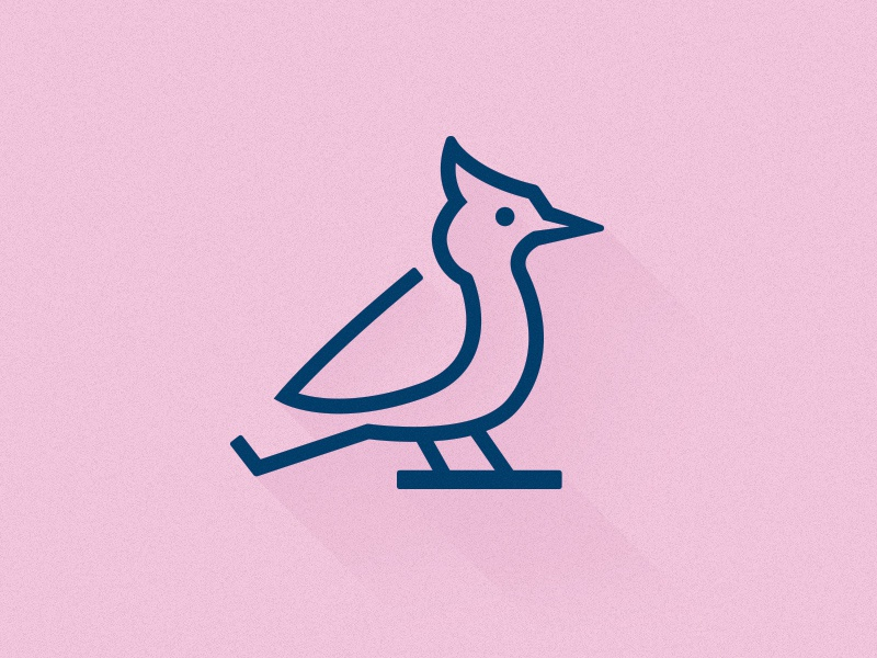 Blue Jay line single weight logo icon illustration bird blue jay