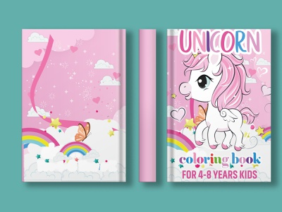 unicorn coloring book coloring page coloring book unicorn kdp cover coloringbook