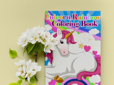 Unicorn coloring book coloring page unicorn coloring book coloringbook kdp cover