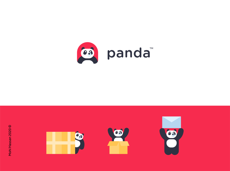 Unapproved option for Matjar Panda cute animal happy character logo design panda bear panda animal pet