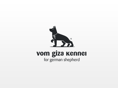 vom giza kennel | logo design | poland approved german shepherd key of life pet dog illustration farm animal logo farm dog icon dogs dog