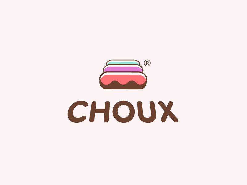 CHOUX LOGO boutique website chocolate choux sweet brand logo store eclair