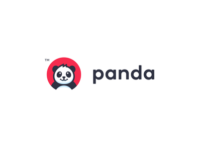 Matjar Panda  Logo smile branding illustration store glad logo panda happy animal cute pet