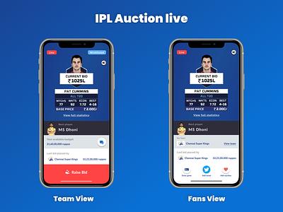 IPL Auction Live figma tutorial figmadesign figma mobile app ux application application design uidesign concept uxui adobexd uxdesigner ux design