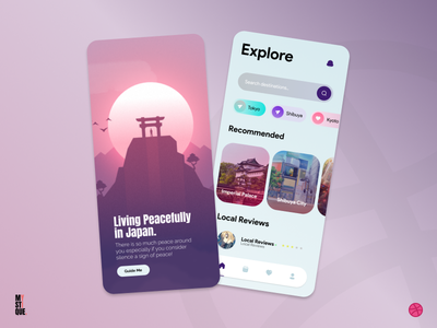 Travel App - UI Design flat illustration ux app design minimal ui