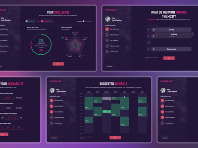 Novos - Training platform onboarding webdesign ui game website game website productdesign gamification steps onboarding esports fortnite game app gaming training