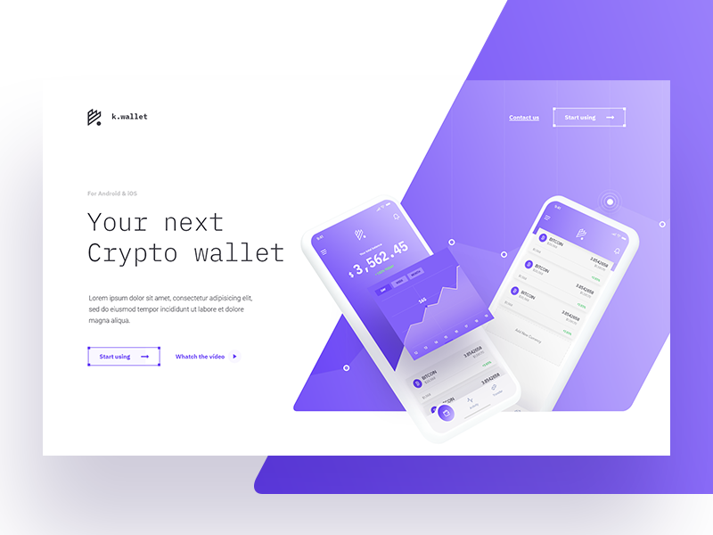 Crypto Wallet Hero Exploration app gradient ui website hero wallet crypto