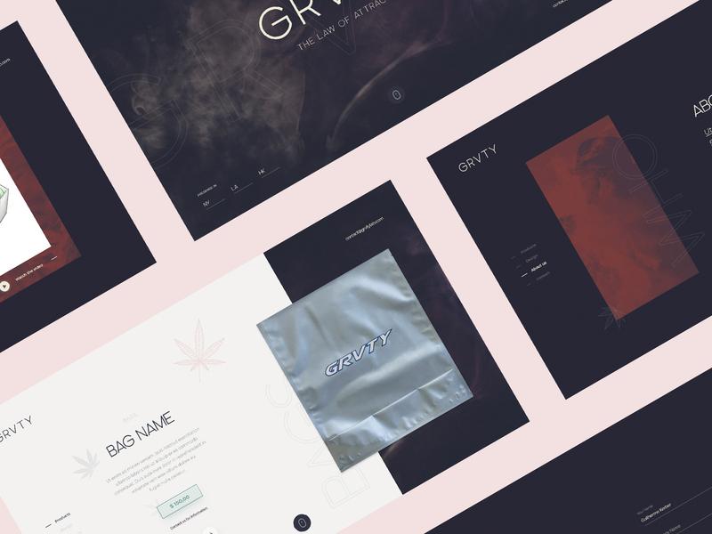 Premium Cannabis Website webdesign product cannabis luxury landing page website