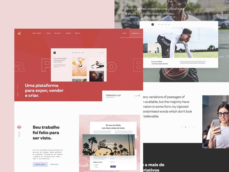 Startup Landing Page typogaphy clean ux interface design homepage website webdesign ui startup