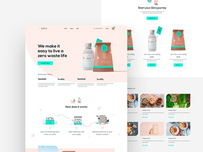 Grocery Shop landing page