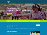 The color run website concept pixels chase kettl