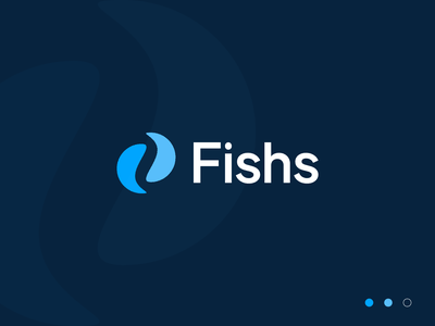 Fishs simple abstract minimalistic design clean flat minimal modern proffesional minimalist logo brand identity branding