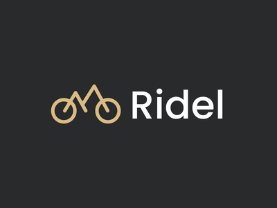 Ridel typography simple minimalistic design abstract clean flat modern proffesional minimalist logo minimal brand identity branding