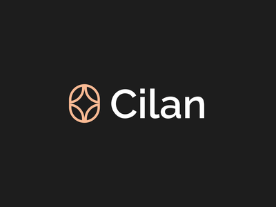 Cilan tea cup abstract typography minimalistic design clean flat modern proffesional minimalist logo minimal simple brand identity branding