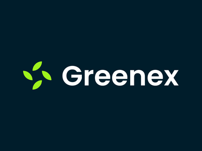 Greenex flash renewable energy green leaf minimalistic design branding abstract clean flat modern proffesional minimalist logo minimal simple brand identity