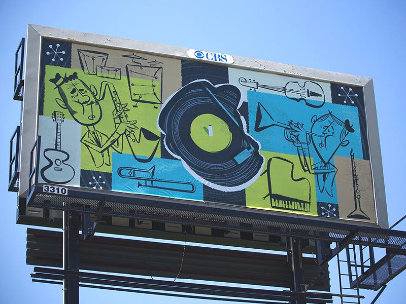 Billboard Jazz sockmonkee illustration vector mailchimp billboard atlanta georgia