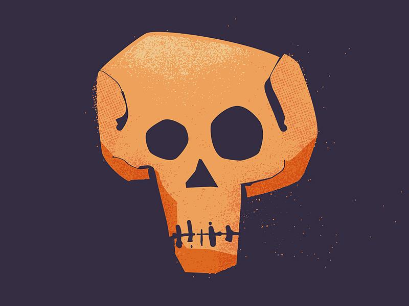 Death... easter skull death illustration sockmonkee