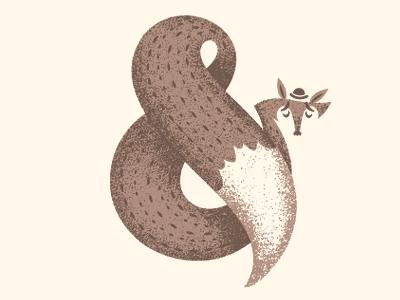 Ampertastic Mr Fox sockmonkee illustration fox ampersand