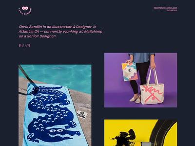 Finally, a new site 😎 designs illustration sandlin portfolio