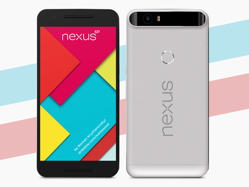 Nexus 6P Freebie PSD Mockup android marshmallow 6p nexus 6p android nexus mockup free freebie
