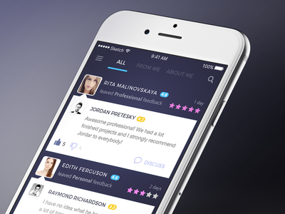 Professional feedback feed feedback app ios