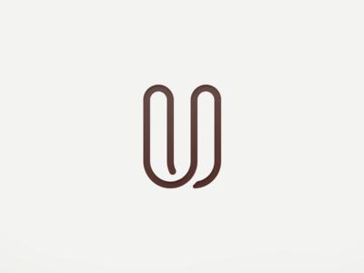 Uzzer logo symbol u shape vector symbol logo