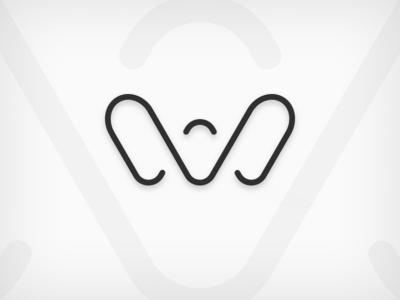 Wave Logo wave w shape vector symbol logo