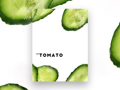 Not Tomato minimalism poster