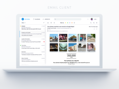 Mail Client  white light software email client email mail agent mail