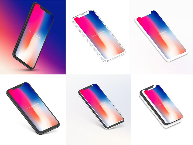Free iphone x mockups bundle