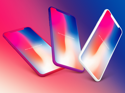 Free iPhone X Mockups Bundle with coloring option V02